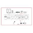 Helvia HCMA-PLAY MIC 2 zónás asztali mikrofon HCMA erősítőhöz