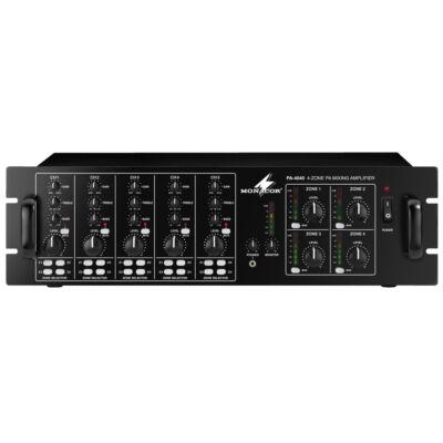 Monacor PA-4040 4 zónás 100V hangosító központ