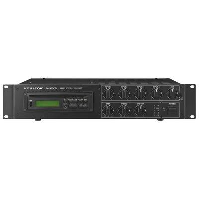 Monacor PA-930CD 100V-os keverőerősítő, beépített CD lejátszóval