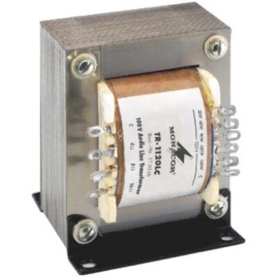Monacor TR-1120LC 100V-os illesztő transzformátor