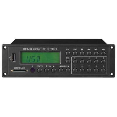 Monacor DPR-10 kompakt MP3 felvevő