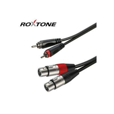 Roxtone RACC170L1 RCA-XLR mama szerelt kábel 1m