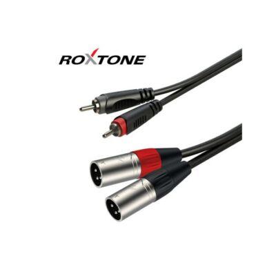 Roxtone RACC190L3 RCA-XLR papa szerelt kábel 3m