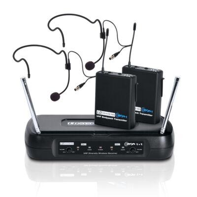 LD Systems ECO2x2BPH1 vezeték nélküli fejmikrofon szett